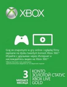 Microsoft Karta zdrapka Xbox Live 3 miesiące 52K-00270