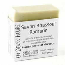 EN DOUCE HEURE Mydło w kostce-szampon RHASSOUL 100gglinka rhassoul, rozmaryn ENDHRHASS