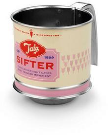 Tala Sitko stalowe mechaniczne do mąki mini RETRO różowe 10B00237