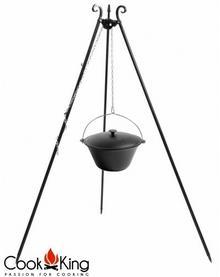 Cookking = Kociołek węgierski żeliwny emaliowany z pokrywą na trójnogu 11l