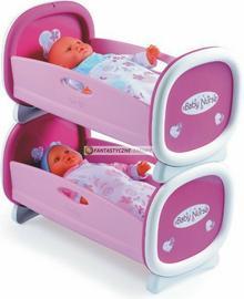 Smoby Baby Nurse - Kołyska łóżeczko dla bliźniąt, łóżko piętrowe 24217