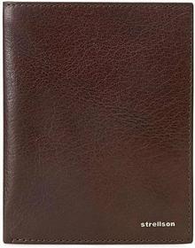 Strellson Duży portfel męski - Billfold V8 4010001300 D.brązowy 702