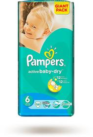 Pampers Active Baby-Dry 6 Extra Large 15+ 56 szt.