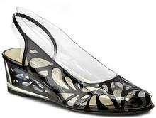 Azuree Sandały Nasva 30De Vernis Noir 02 tworzywo/-wysokogatunkowe tworzywo, skóra naturalna/-pokryta tworzywem