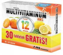 AMS PHARMA Multivitaminum AMS Forte x 60 tabl + 30 tabl GRATIS !