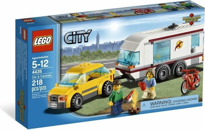 LEGO CITY Samochód z przyczepa kempingową 4435
