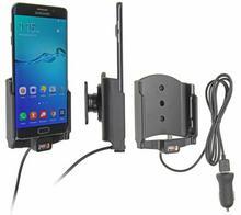 Brodit AB Uchwyt do Samsung Galaxy S6 Edge + z wbudowanym kablem USB oraz ładowa