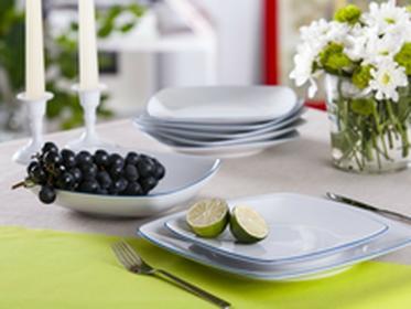 Chodzież Ćmielów i Zestaw obiadowy dla 6 osób porcelana Ćmielów Akcent TL05 nieb
