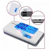 Whitenergy POWERBANK 10000mAh 2xUSB 2.1A 1A LCD, biały, kabel AZWHIUAP1011500 [4597144]