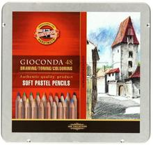 KOH I NOOR Pastela sucha/drewno 48kol Gioconda kasetka/met KIN 8829 AR5609