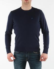 Wrangler Męski Sweter R 8550QL49 Fine Crew Knit