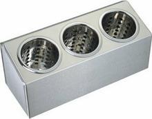 Stalgast Pojemnik na sztućce - 3 częściowy, 385 x 150 x 180 mm 815300