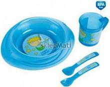 Canpol babies Zestaw stołowy plastikowy 4/401 (5 cz.) 0% BPA