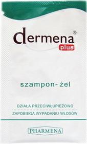 Pharmena Dermena Plus - Szampon-żel przeciwłupieżowy, zapobiegający wypadaniu włosów 7szt.