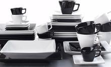 OXFORD SORTIDO - Porcelanowa Zastawa stołowa obiadowo-kawowa 42 części dla 6 osób
