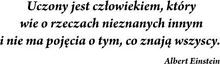 Szabloneria Naklejka - Sentencja 2 - Albert Einstein