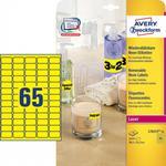 Avery Zweckform Etykiety neonowe Zweckform żółte 38.1 x 21.2mm 25 ark./op. L7651Y-25