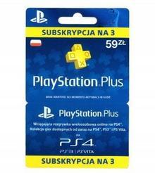 SONY Subskrypcja PlayStation Plus 3 miesiące ( polska dystrybucja ) PSPLUS3M