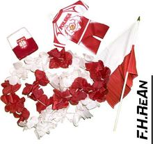 ZESTAW KIBICA POLSKI POLSKA KWIATY Frotka FLAGA