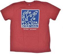 Alien Workshop T-shirt - Haring Dolphin czerwony Hthr (CERVENA)