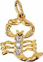 Tyfanit Złoty znak zodiaku - skorpion ZZ8