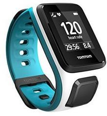 TomTom Tomtom Runner 2 Cardio Zegarek Monitorujący Pracę Serca Z Funkcją Śledzenia Gps, Biały/Niebieski, S, 1Rf0.001.03