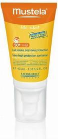 Mustela SUN Mleczko przeciwsoneczne SPF50++ UVA 25 PPD do twarzy 40ml