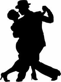 Szabloneria naklejka ścienna sylwetka 44 - Tango