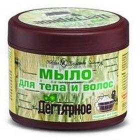 Nevskaya CosmeticaDziegciowe Mydło w kostce do ciała i włosów - Kosmetika 300ml