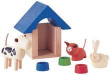 Plan Toys Drewniane akcesoria dla lalek Zwierzątka domowe, 8854740073143