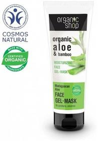 Organic Shop Aloes Madagaskaru Nawilżająca Żel Maska Do Twarzy 75ml