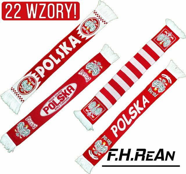 Szalik POLSKA 22 wzory Szaliki Polska Dla Kibica