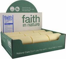 Faith In Nature Organiczne Mydło w kostce z wyciągiem z lawendy, 18sztuk x 100g -