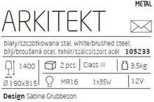 Markslojd Lampa podłogowa ARKITEKT - Biały (105233) –
