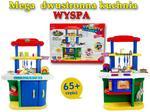 Import SUPER-TOYS MEGA DWUSTRONNA Kuchnia WYSPA 98 CM /6001 ZB-6001-NIEBIESKA