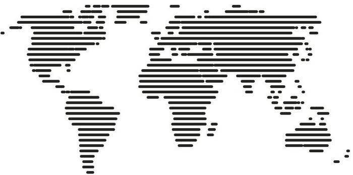Naklej-to.pl Mapa świata 7 naklejka na ścianę