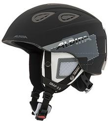 Alpina Erwachsene Skihelm Grap 2.0, Black Grey Matt, 57-61 Cm, 9085331