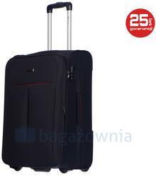 Puccini Średnia walizka LATINA EM50308B 1 Czarna - czarny