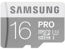 Samsung 16GB microSDHC Pro 90MB/s + adapter SD