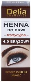 Delia Cosmetics Henna farbka do brwi odcień 4.0 Brown
