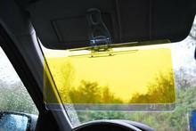 Clear View Osłona Samochodowa do Jazdy Nocą i w Słoneczne Dni. 2w1....