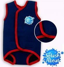 Splash About Neoprenowa pianka do pływania dla dzieci Baby Wrap - granatowa z cz