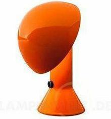 Designerska Lampa stołowa ELMETTO pomarańczowa