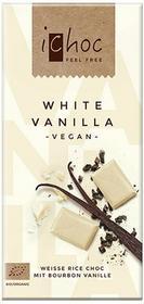 Ichoc czekolada biała z wanilią (na napoju ryżowym) bio 80 g - vivani