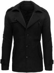 Płaszcz męski zimowy czarny (cx0337) cx0337_m Czarny