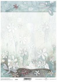 ITD Papier do scrapbookingu 250g A4 - 006 kwiaty