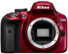 Nikon D3400 + body czerwony