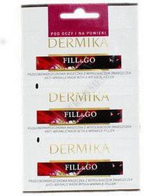 Dermika FILL&GO Przeciwzmarszczkowa maseczka pod oczy i na powieki z wypełniaczem zmarszczek 3x2ml