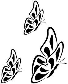 Naklej-to.pl Trzy motyle 2 naklejka na ścianę