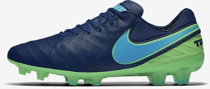 Biało czarne buty piłkarskie Nike Tiempo Legacy FG 819218 108